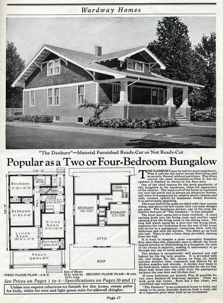 Antique house plans from wardway kit for Historic bungalow house plans