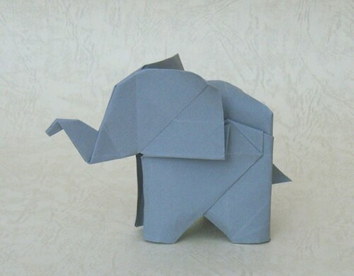 origami elephant can anyone tell me who is the folder of t soneblees flickr. Black Bedroom Furniture Sets. Home Design Ideas
