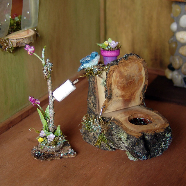 Miniature Fairy Toilet For Bathroom This Pretty Little