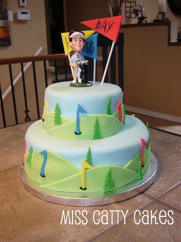 Fondant Golf Cake Design : Father s Day Golf Cake This cake was for my Dad, Uncles ...