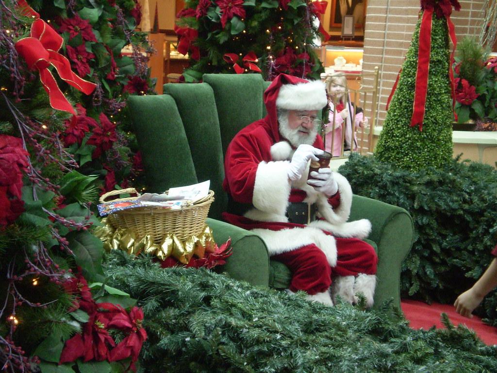 Santa Drinking Coffee Caught Santa Drinking Tim