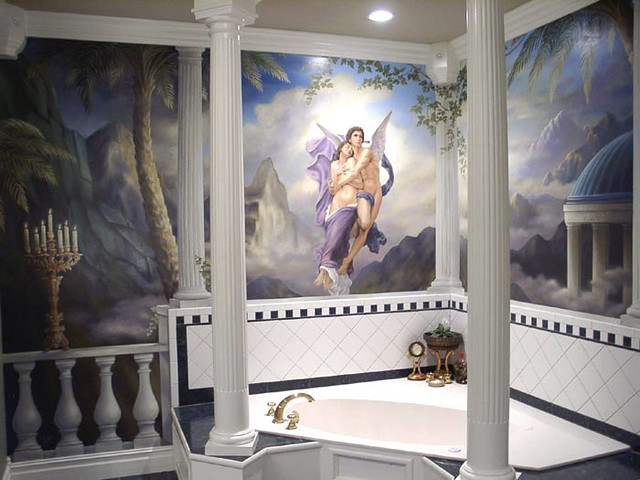 Angel mural in a master bath This is one of my earlier wo Flickr