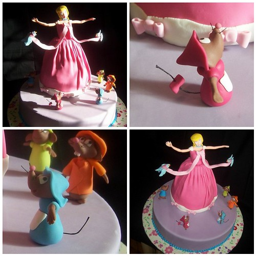 Disney Cake Decorating Book : cinderella cake this is a replica of a cake I found on a ...