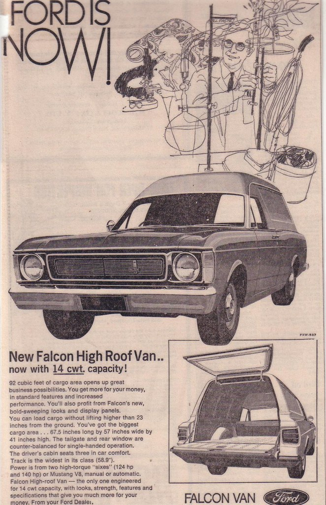 1969 Ford Xw Falcon Panel Van Ad Another Rare Auto To