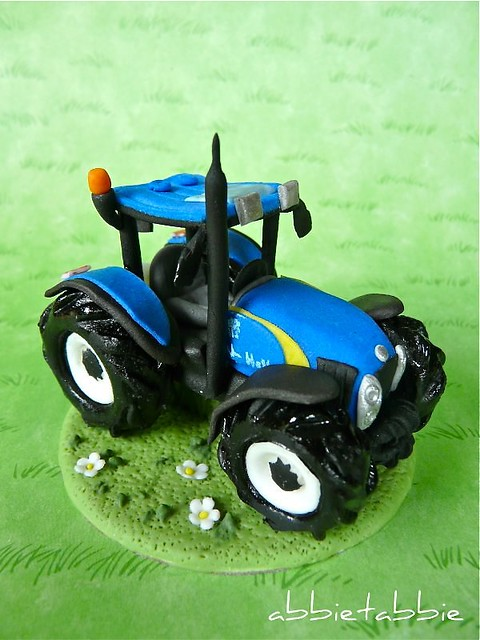 Just Married Tractor Cake Topper
