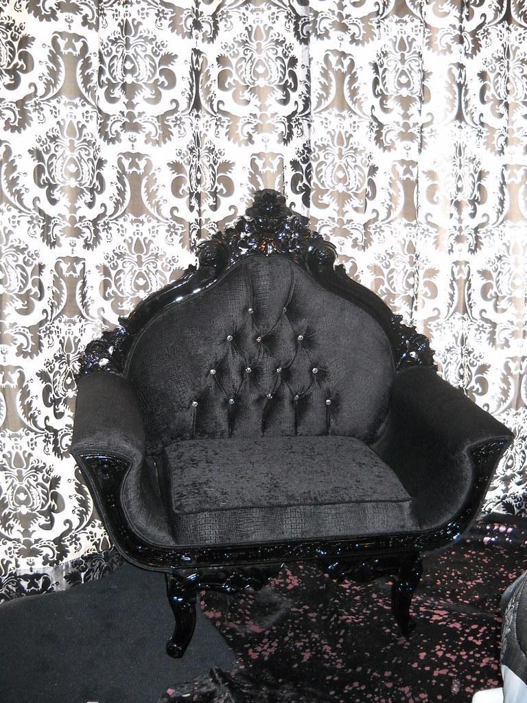 4051 Royal Chair Black Croco Velvet 4 0 Wide This