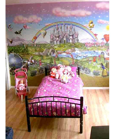 Wall tastic fairy wallpaper mural kimsta 75 flickr for 3d wallpaper for walls uk