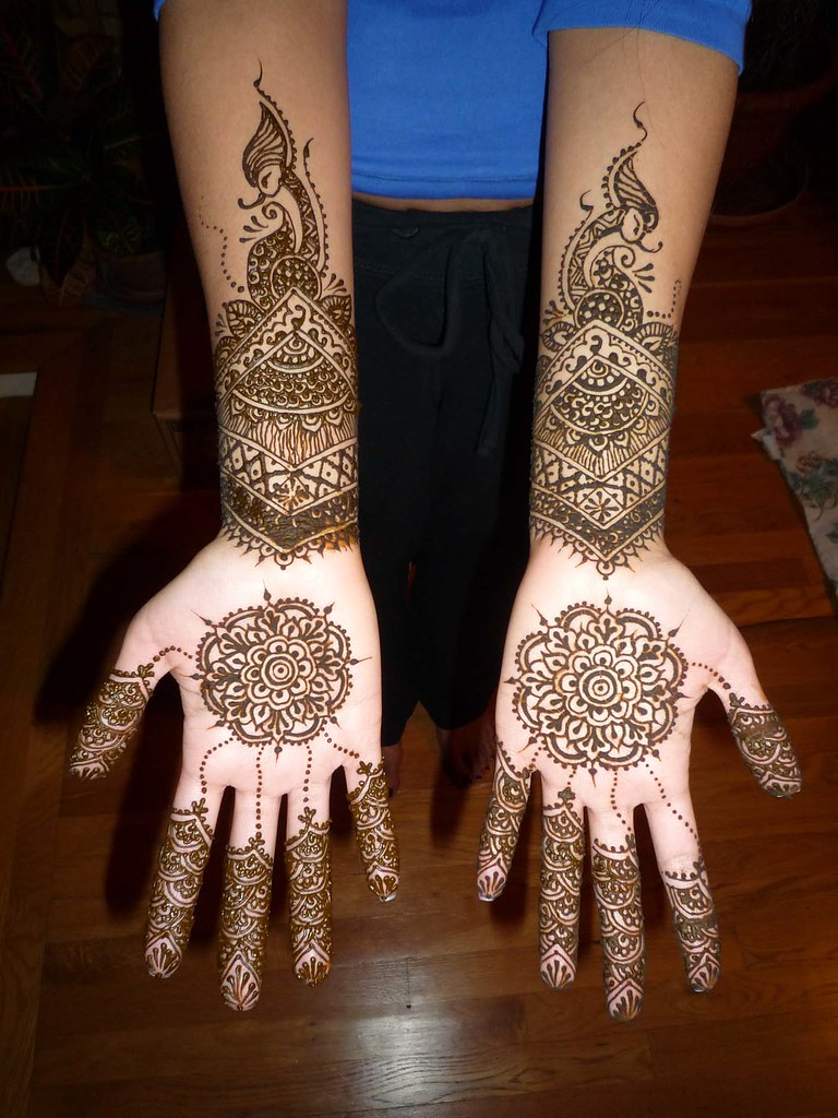 Bridal Mehndi New Jersey : Bridal henna i did for a new jersey bride she