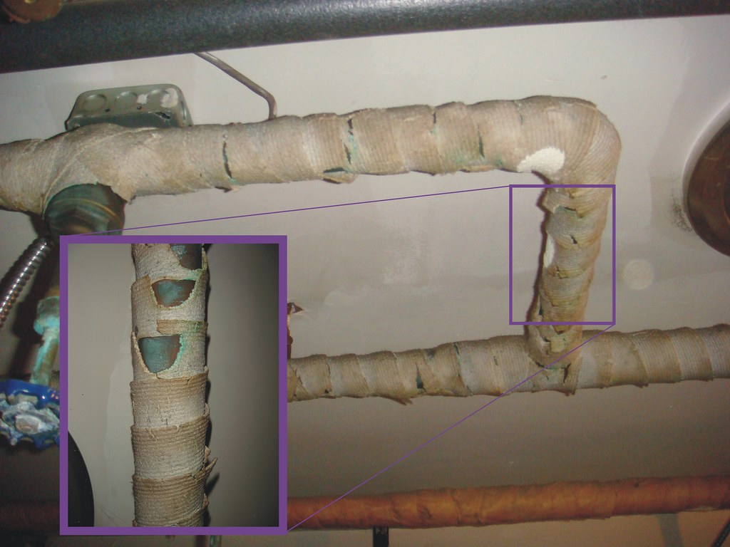 Asbestos Pipe Insulation Corded Wrap Example Of An
