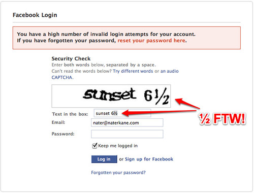 Facebook Captcha Fail What The Hell Why Would Should