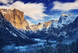 Winter Morning Sunrise Tunnel View Yosemite Valley - Yosemite National Park | by Chase Lindberg Photography