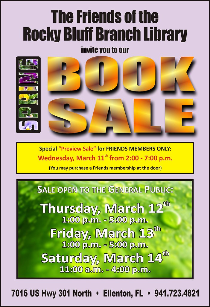 friends of the rocky bluff library spring 2009 book sale