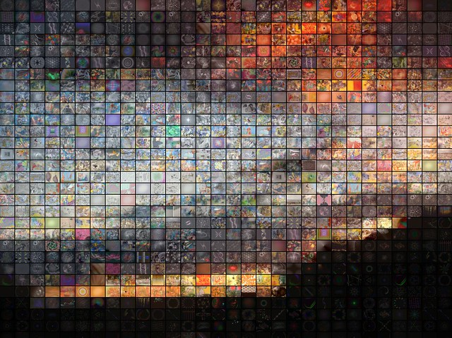 Arizona Sunset Fractal Mosaic This Is A Mosaic Of A