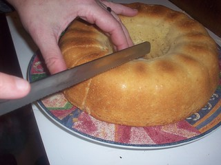 Slicing the gf sweet bread loaf | by mia3mom