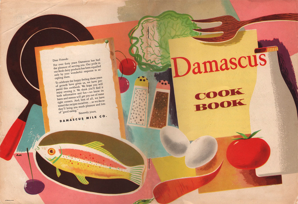 Cookbook Cover Photos ~ Damascus cook book illustrated by