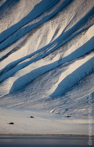 View of the mountains across the Adventfjordren from Longyearbyen, Spitsbergen | by Dave Walsh Photography