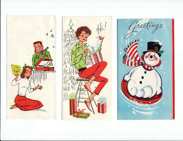 Free vintage 50's-60's Christmas card covers 2 | A few thin … | Flickr