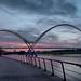 Stockton Infinity Bridge at Sunset