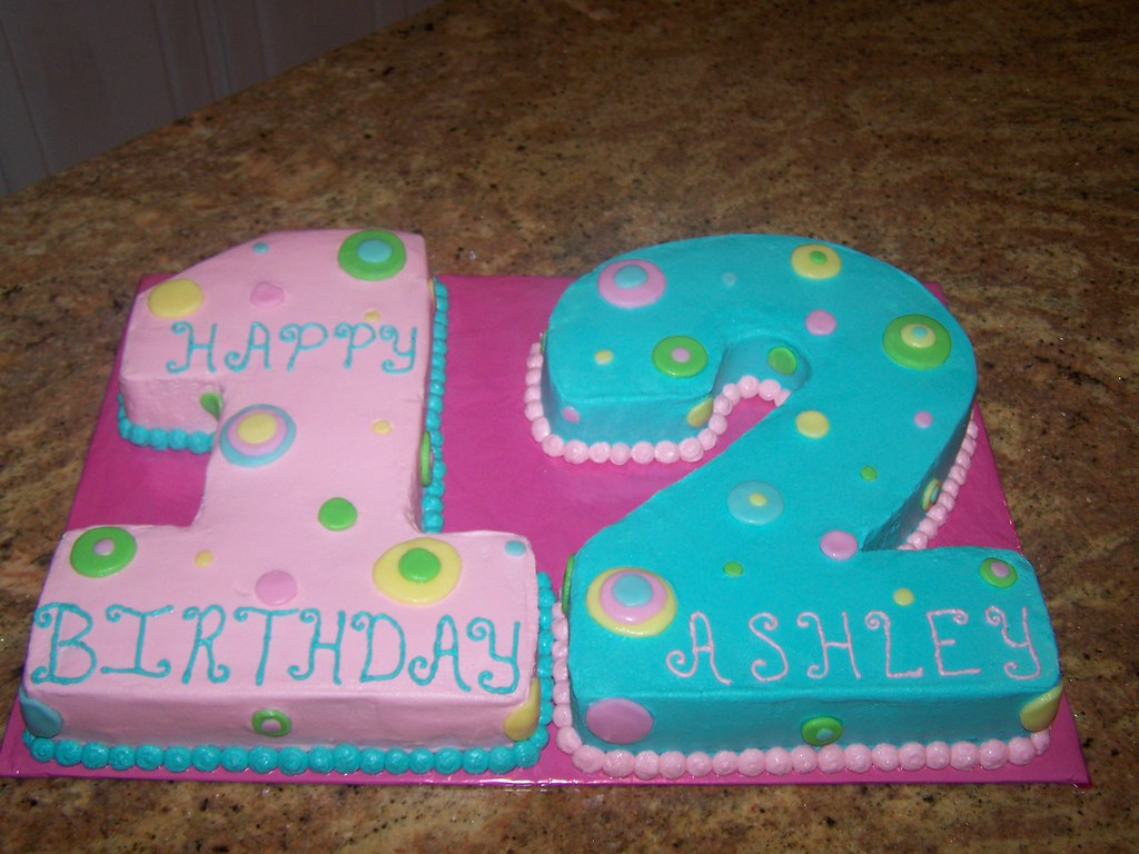 Number 12 Cake | We made this cake for a girls 12th ...
