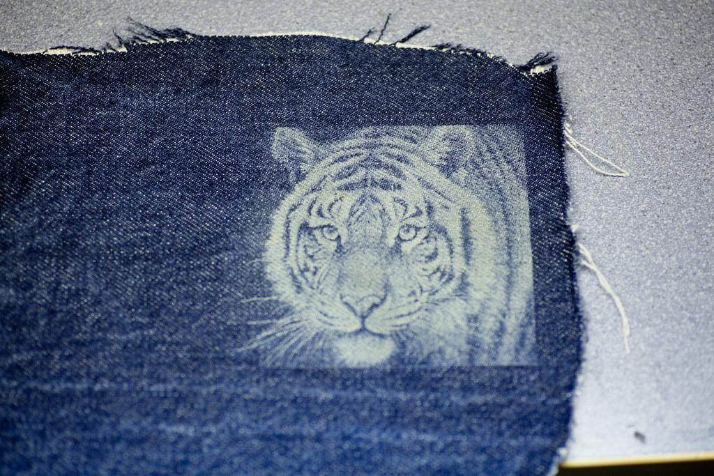 Laser Engraved Jeans