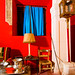 Medinaceli, Soria, Spain. Living room of an old house decorated with bright colors. Lit with a bare SB800