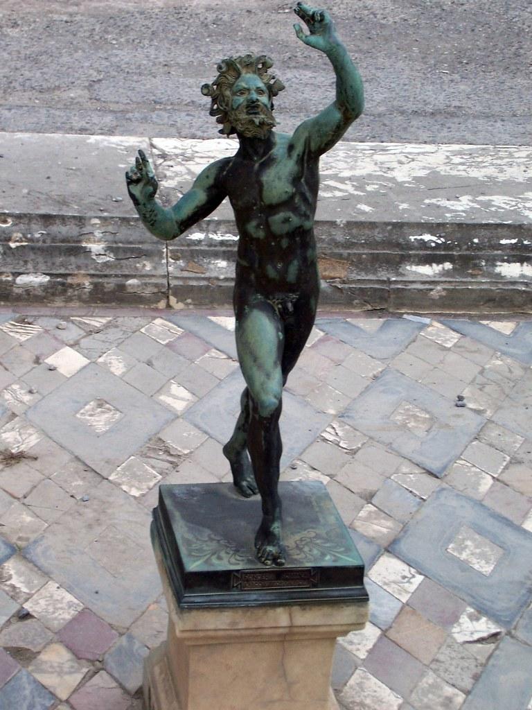 Bronze Statue Of The Dancing Faun Pompeii Bronze Statue