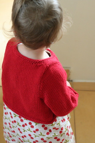 Just One Button Cardigan, back view | by ElinorB