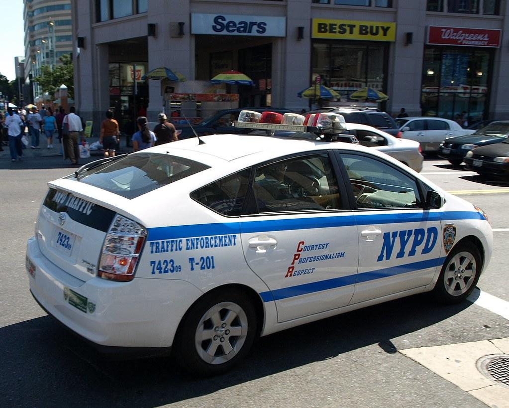 Tesla Police Car New York