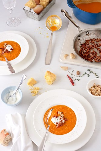 Butternut and Acorn Squash Soup | by tartelette