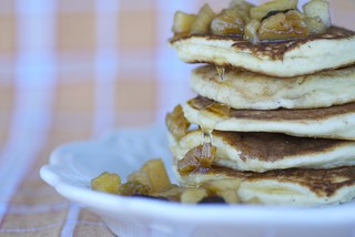 Ricotta Hotcakes with Warmed Spiced Apples and Maple DSC_0241 | by Food Blogga