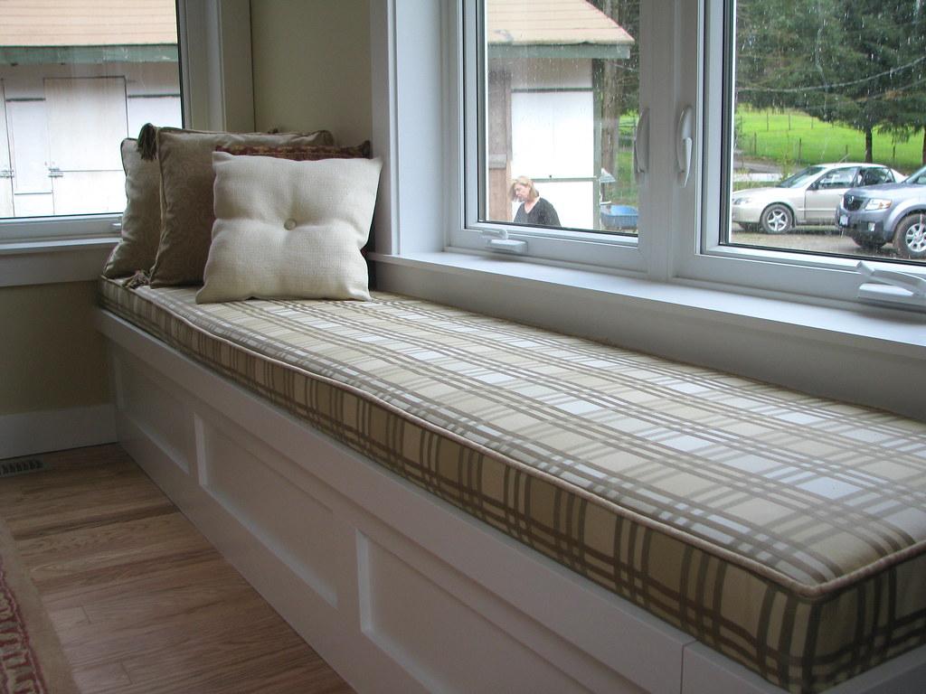 Window Seat In Checker Street Custom Bench Cushion In Chec Flickr