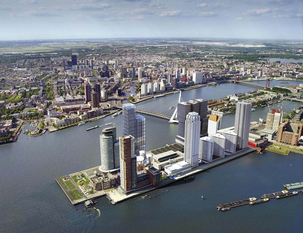 Luchtfoto wilhelminapier rotterdam grootstedelijke for Pier hotel new york