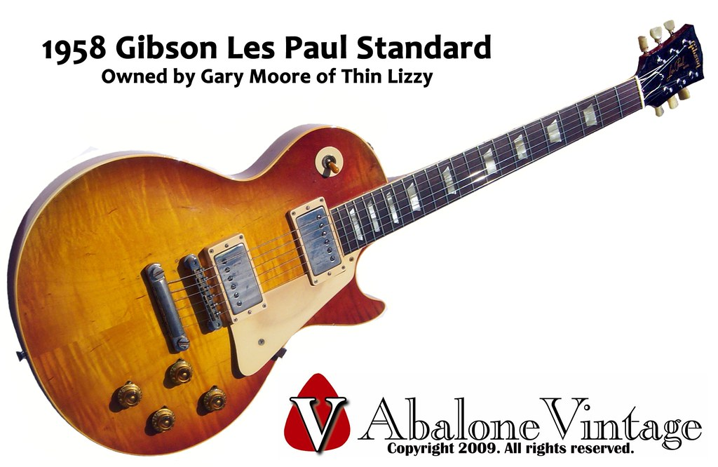 1958 gibson les paul standard owned by gary moore of thin - Gibson gary moore ...