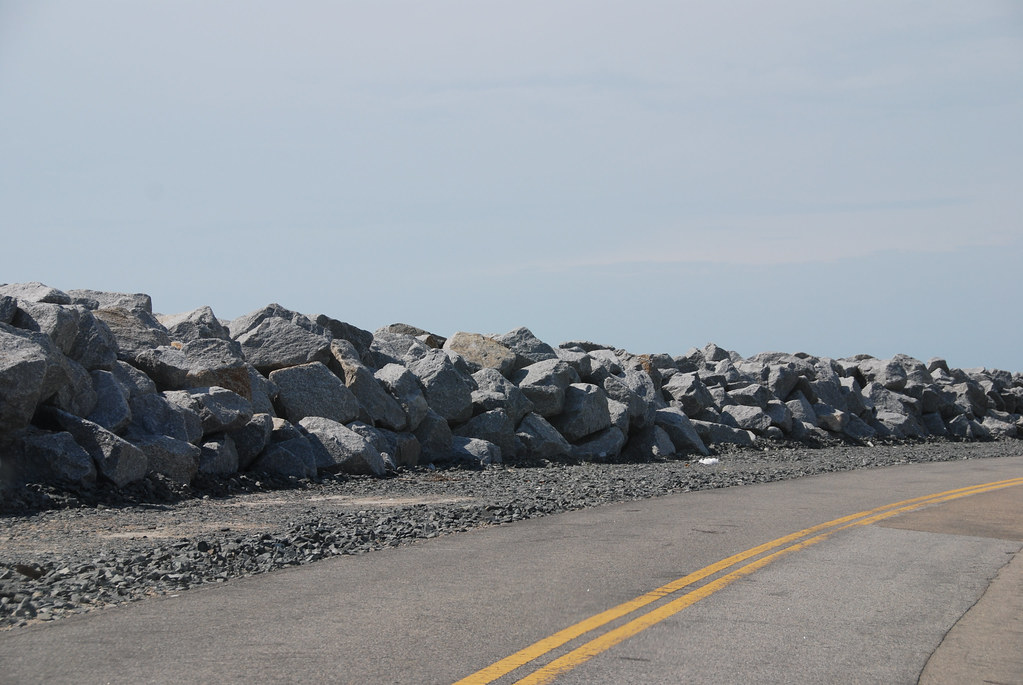 New Boulders Along Cape San Blas Road Last Year The