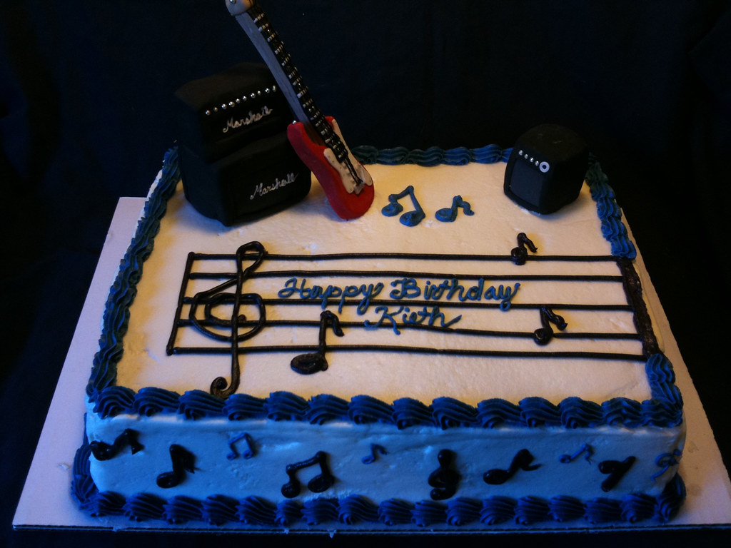 Guitar birthday cake Red electric guitar cake Elizabeth Melton