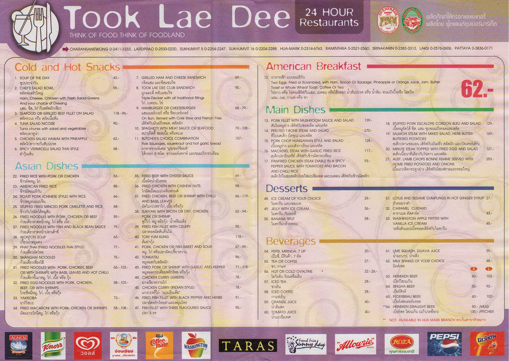 Food World Menu