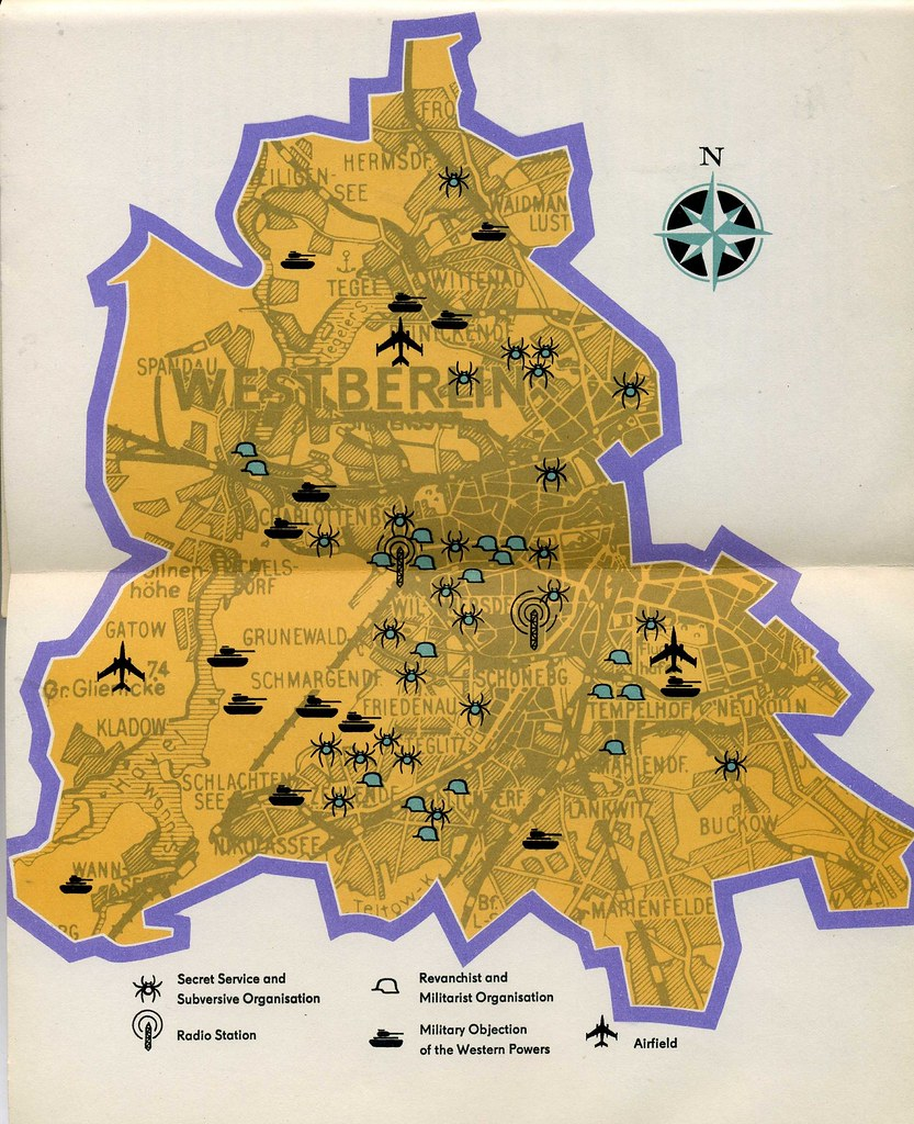 Map Of West Berlin Published In The USSR Cold War Flickr - Berlin wall 1961 map