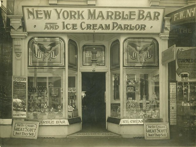 Shop Front Of The New York Marble Bar And Ice Cream Parlor