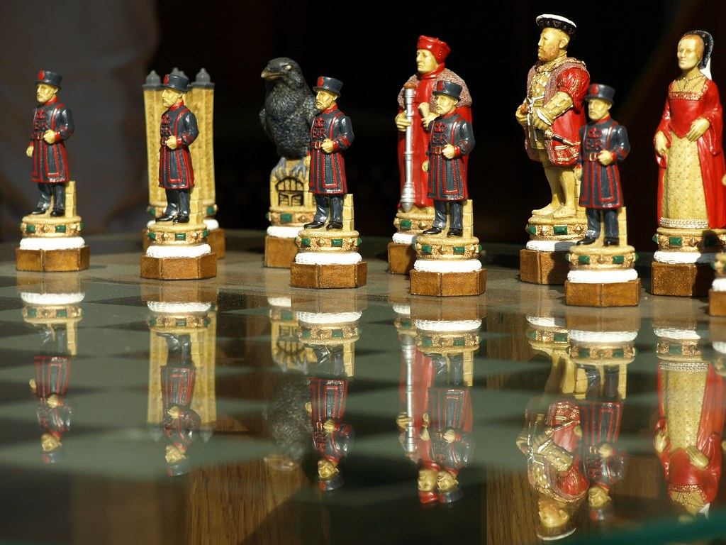 Tower Of London Chess Set This Chess Set And Board Was