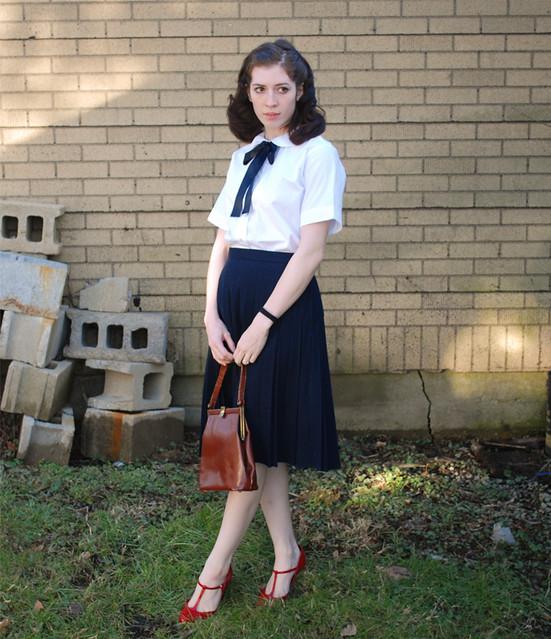 40S School Girl Secretary Maybe  Peter-Pan Blouse,   Flickr-8770