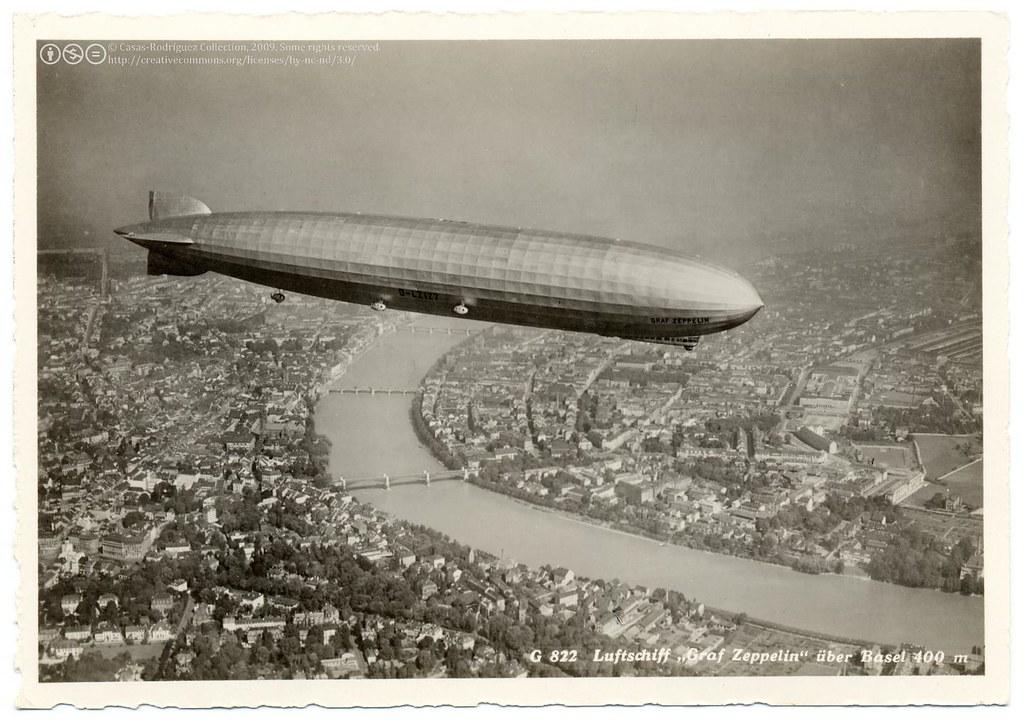 the graf zeppelin over basel 1930 g 822 luftschiff graf flickr. Black Bedroom Furniture Sets. Home Design Ideas