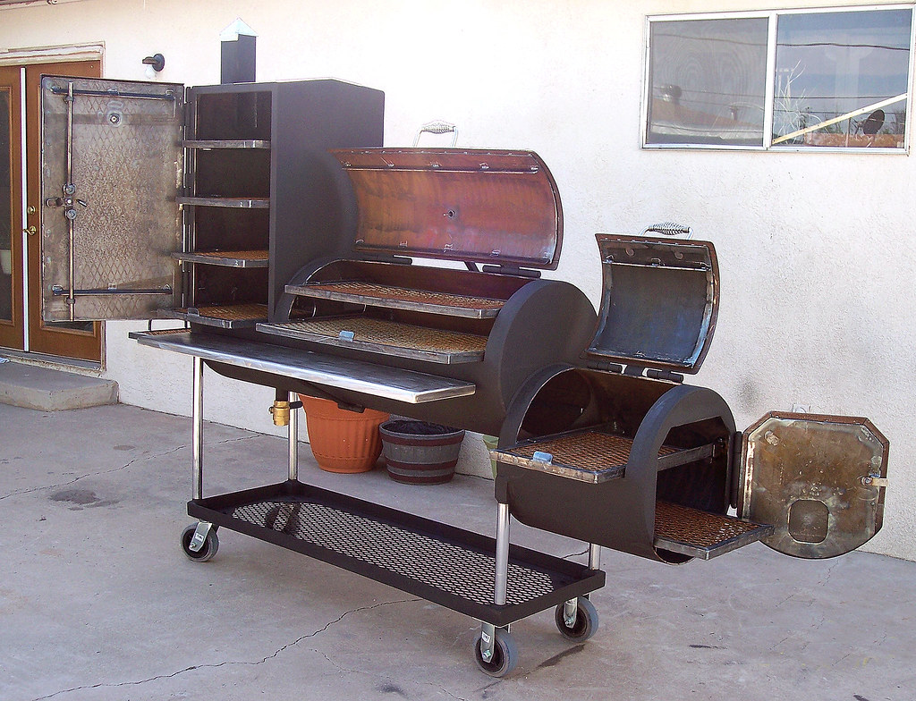 Bbq Pit By D Tanner Custom Bbq Pit With Upright Smoke