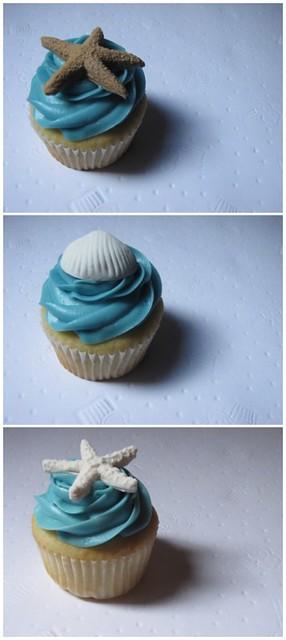 Beach Themed Cupcake Decorations