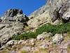 Sur la vire oblique 1750m de Serra Pianella