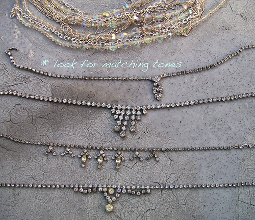 DIY-Tom-Binns-rhinestone-chains-pearl-chunky-choker-collar-necklace-3 | by ...love Maegan