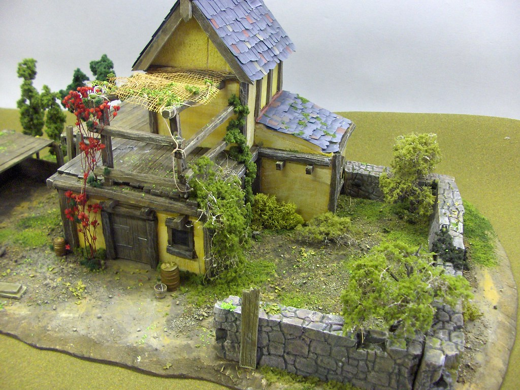Fantasy style farm house model this a model farm house i for Farm house model