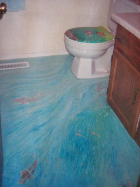 Bathroom floor mural dodiemitchell40 flickr for Bathroom floor mural sky