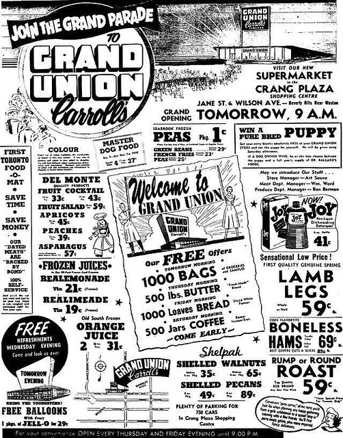 Vintage Ad 742 Join The Grand Parade To Grand Union Flickr
