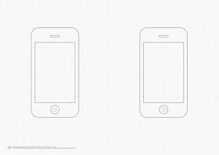 iPhone Application Sketch Template v1.3 | by - Oliver Waters -