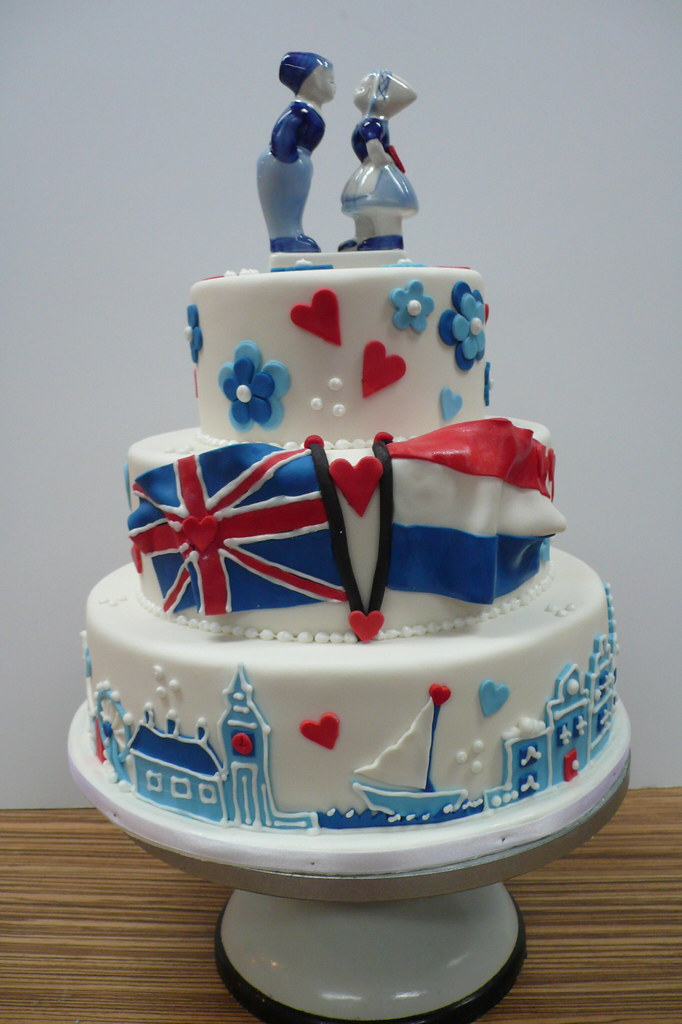 british wedding cake toppers wedding cake in delfts blauw theme he was 12172